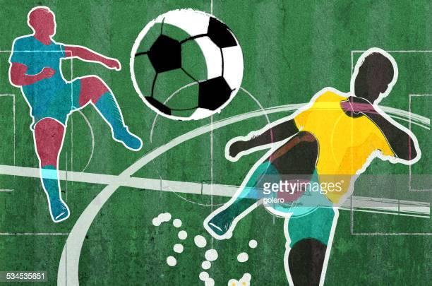 soccer scene collage