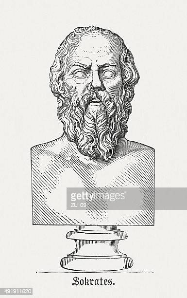 socrates - ancient greek philosopher, published in 1878 - greek culture stock illustrations, clip art, cartoons, & icons