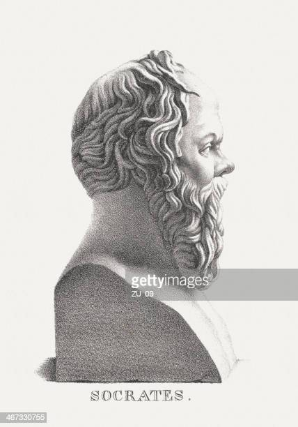 Socrates (469 BC-399 BC), Greek philosopher, lithograph, published in 1882(