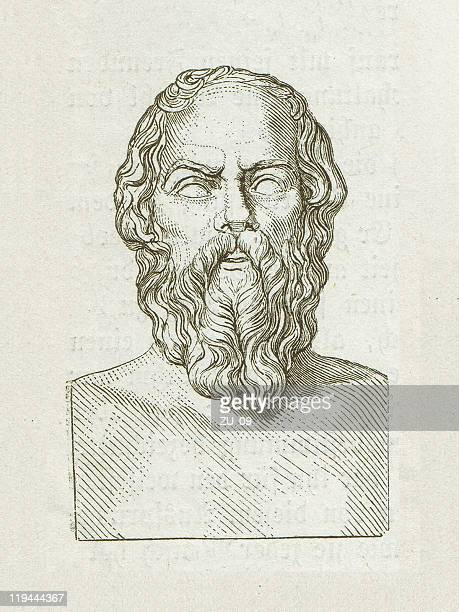 socrates (469 bc-399 bc), greek philosopher, wood engraving, published 1882 - human representation stock illustrations