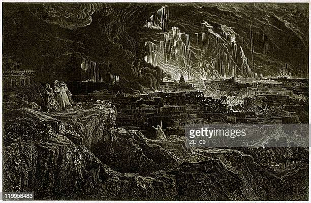 Sodom and Gomorrah, steel engraving, published in 1836