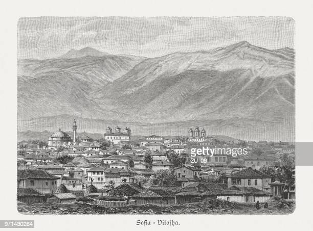 1897 年に公開されたソフィア、ブルガリア、木の彫刻、ヴィトシャ山 - ブルガリア ソフィア点のイラスト素材/クリップアート素材/マンガ素材/アイコン素材