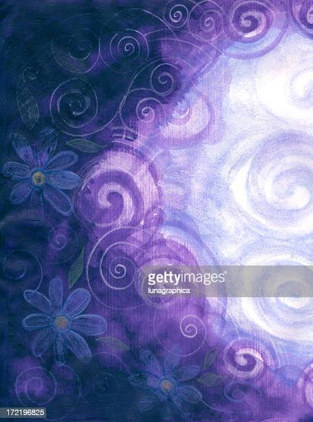 soft flower background - ethereal stock illustrations, clip art, cartoons, & icons