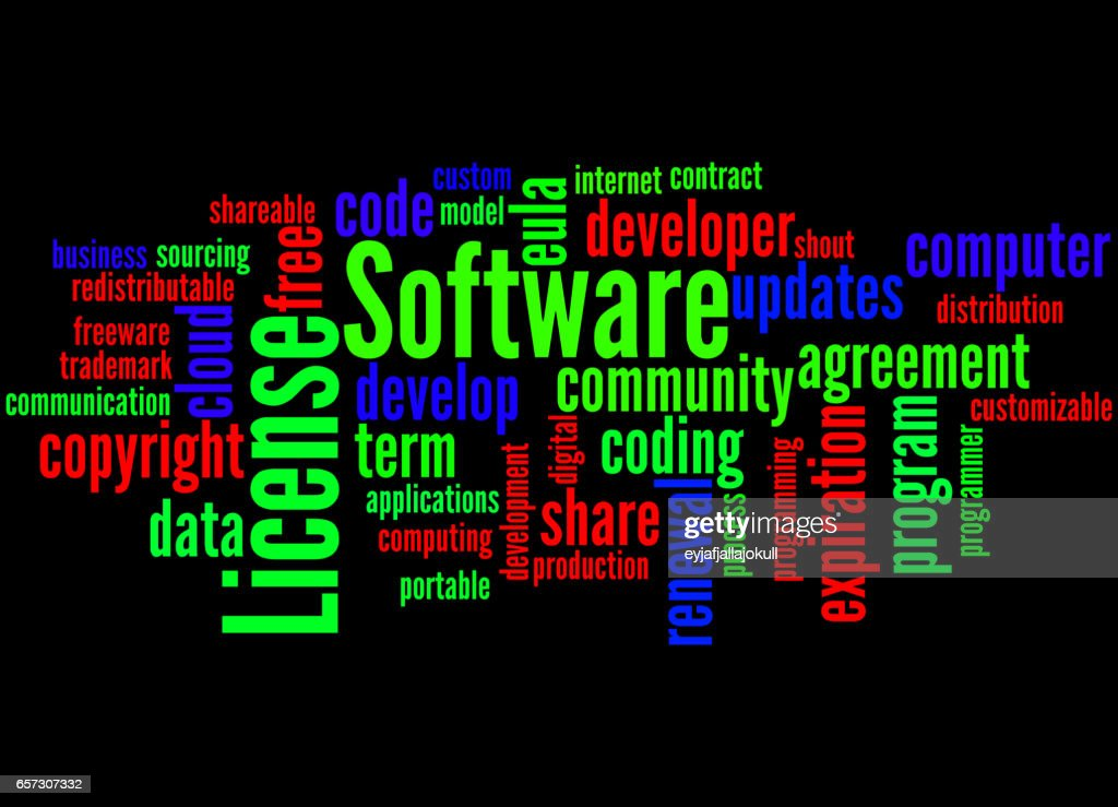 Software License Word Cloud Concept 2 Stock Illustration Getty Images