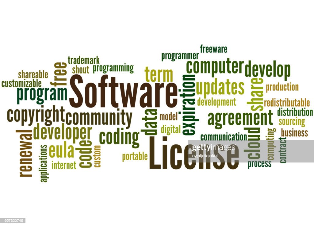 Software License Word Cloud Concept 3 Stock Illustration Getty Images
