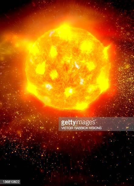 solar activity, artwork - solar flare stock illustrations, clip art, cartoons, & icons