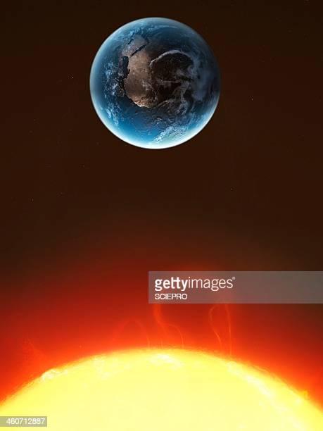 solar storm, artwork - solar flare stock illustrations, clip art, cartoons, & icons