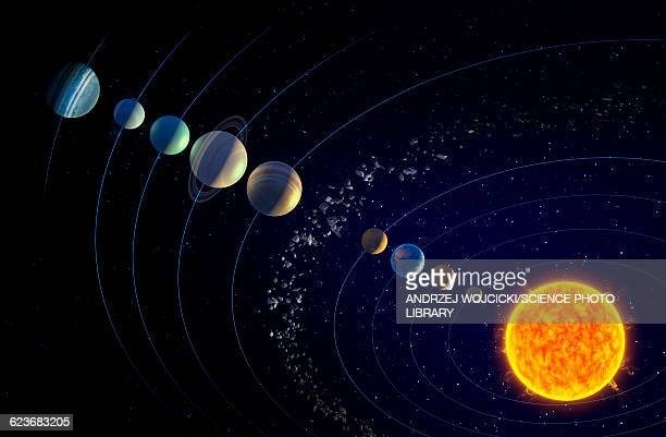 solar system and ninth planet x - solar system stock illustrations
