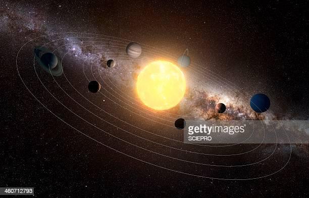 solar system, artwork - solar system stock illustrations