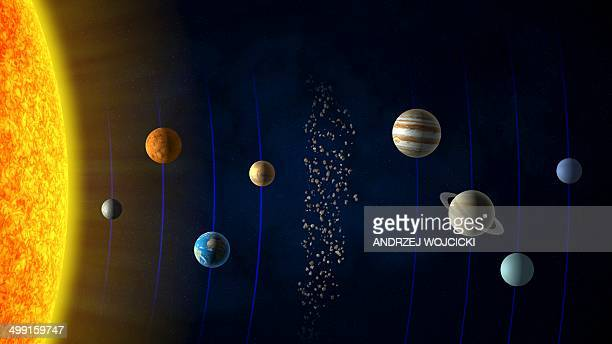 solar system, artwork - planet space stock illustrations