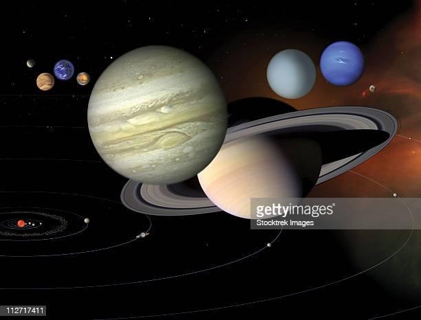 solar system - mercury planet stock illustrations