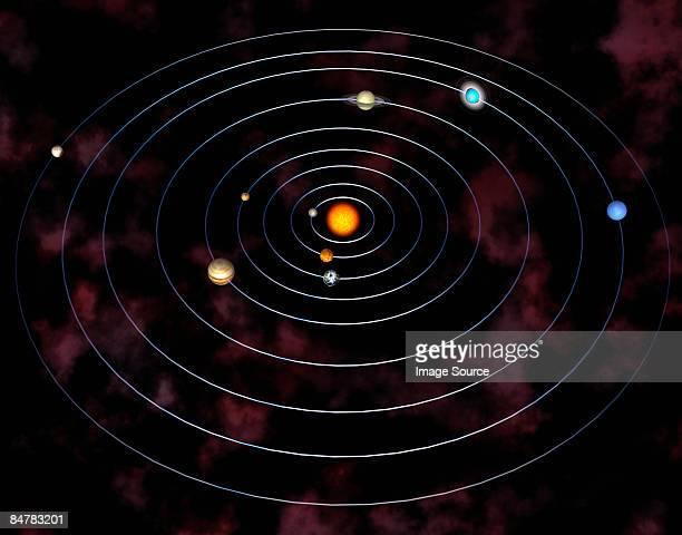 solar system - solar system stock illustrations