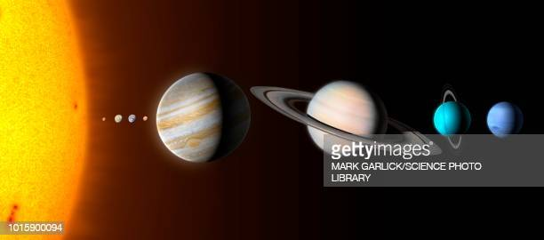 solar system planets, illustration - planet space stock illustrations