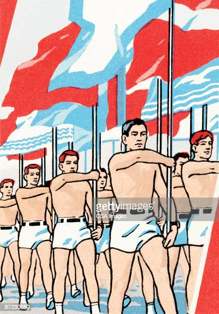 soldier - national flag stock illustrations