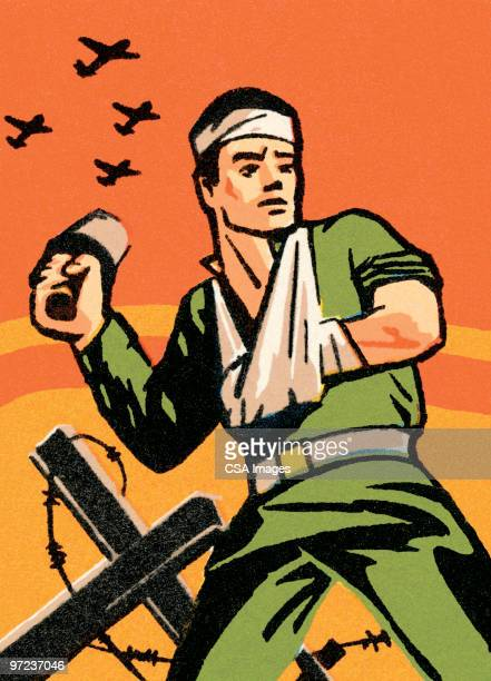 soldier - army soldier stock illustrations
