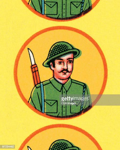 soldier pattern - army soldier stock illustrations