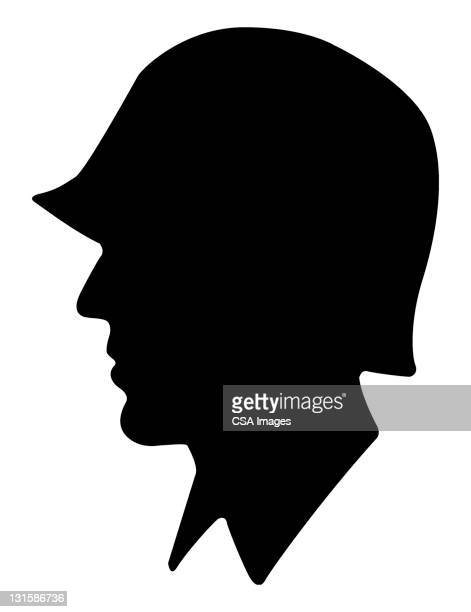 soldier profile - army soldier stock illustrations