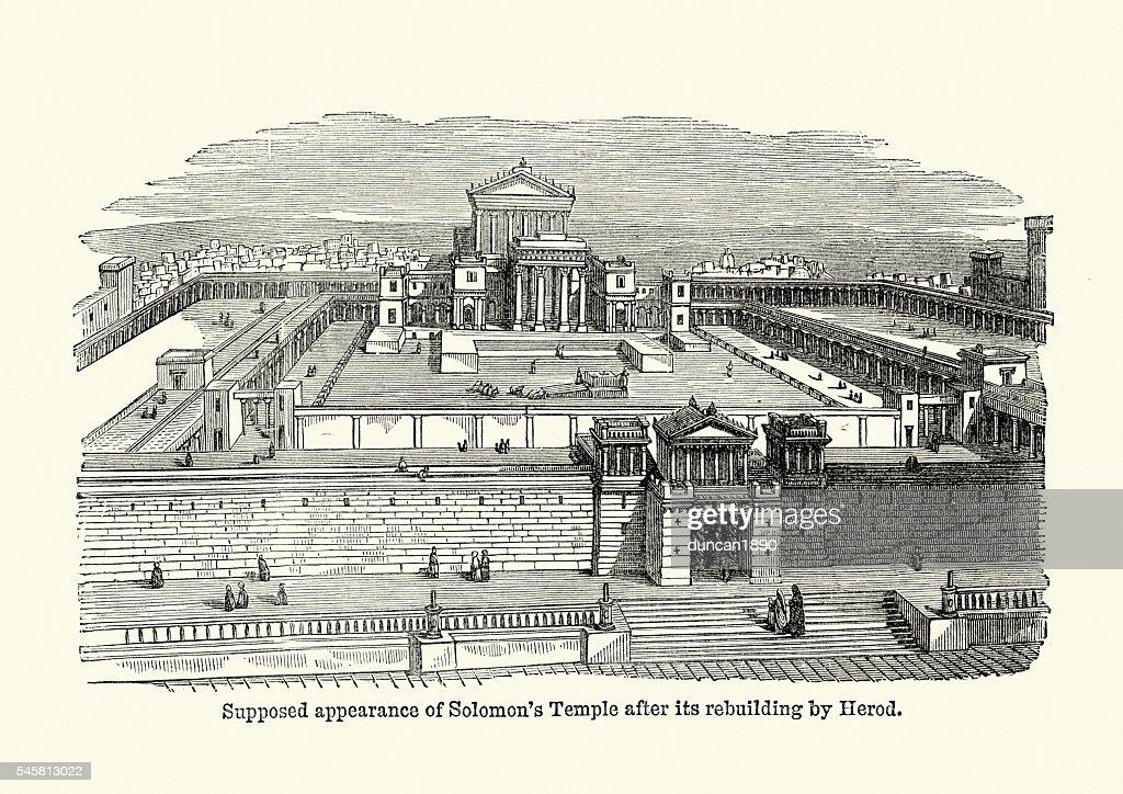Solomon's Temple ancient Jerusalem : stock illustration