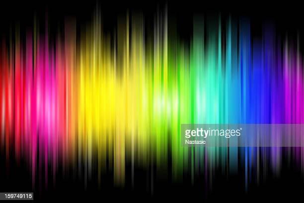 illustrazioni stock, clip art, cartoni animati e icone di tendenza di onda arcobaleno - elettromagnetismo