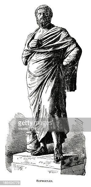 sophocles - ancient greece stock illustrations