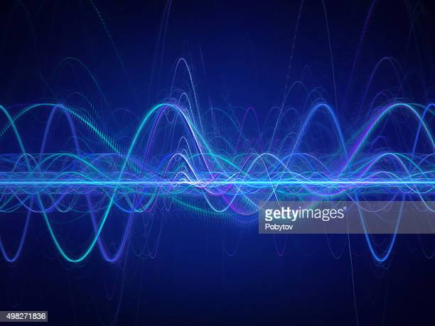 sound wave - electricity stock illustrations, clip art, cartoons, & icons