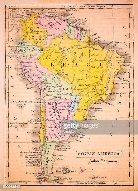 South America 1852 Map