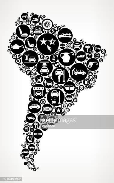 south america cars and auto repair icon background - {{relatedsearchurl('county fair')}} stock illustrations, clip art, cartoons, & icons