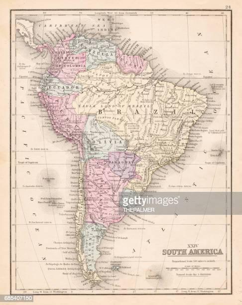 South America map 1867