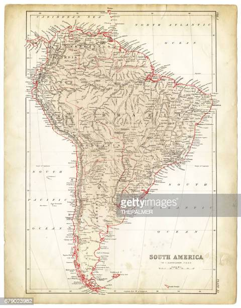 South America map 1878