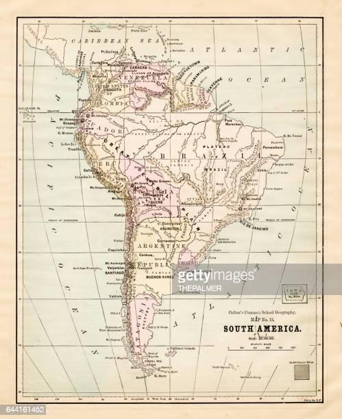 South America map 1881