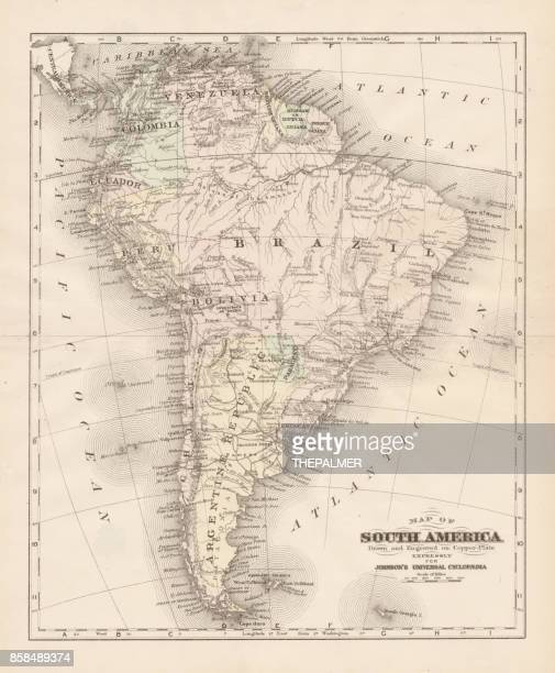 South America map 1893