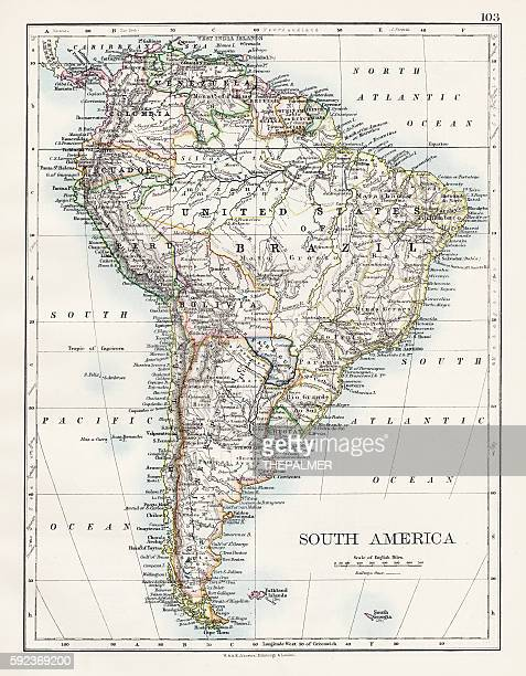 South America map 1897