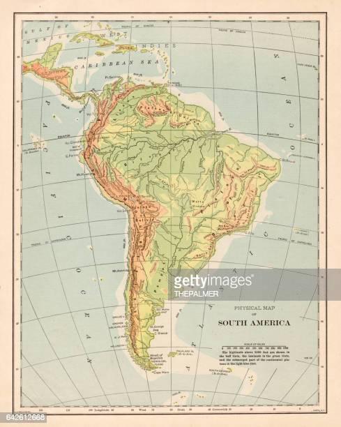 South America map 1898