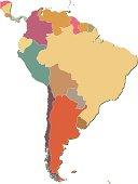 South America map.