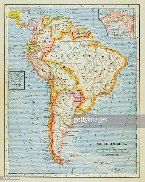 1883 South America Map