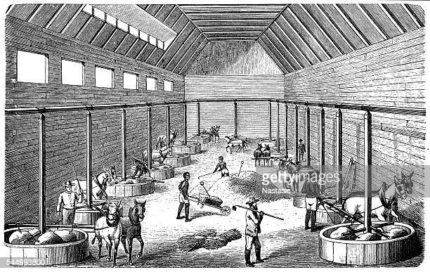 south american amalgam mill - historical document stock illustrations, clip art, cartoons, & icons