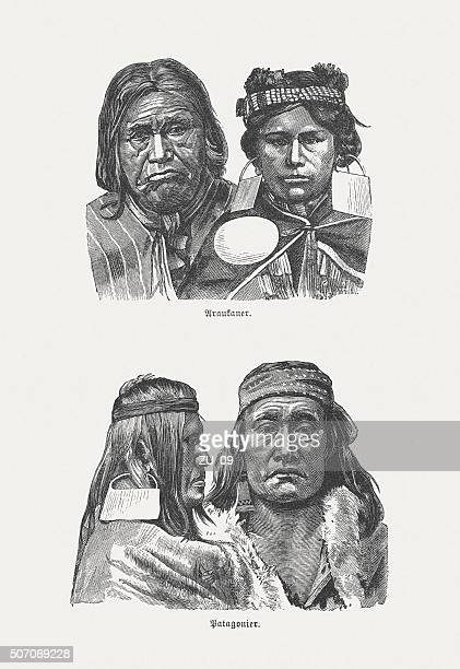 South American Native, wood engraving, published in 1882
