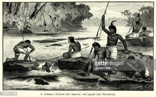 South American Natives hunting