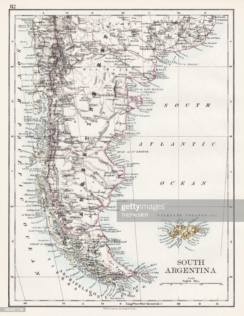 South Argentina map 1897 : Illustrationer