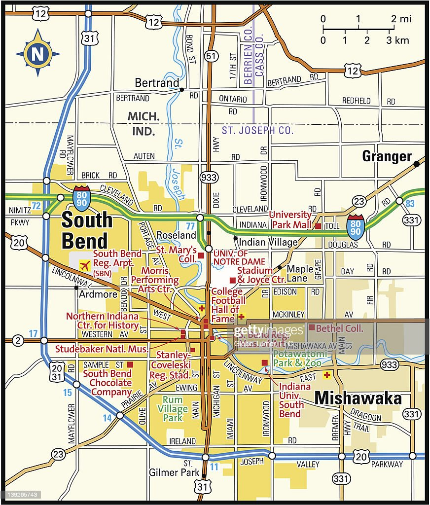 South Bend Indiana Stock Illustrations And Cartoons Getty Images