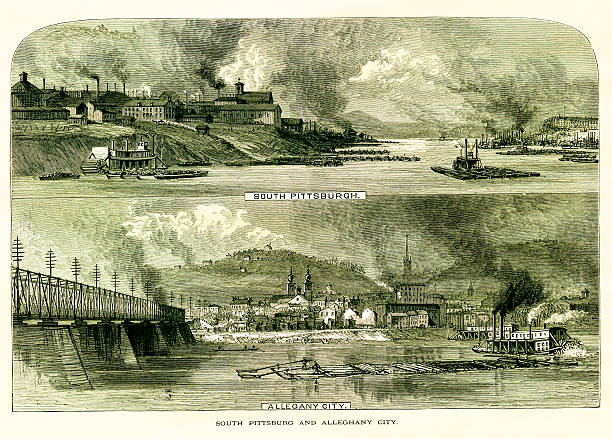 South Pittsburgh And Allegheny City, Pennsylvania Wall Art