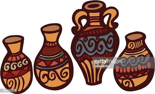 south west pottery - pottery stock illustrations, clip art, cartoons, & icons