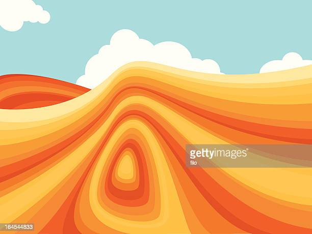 southwestern terrain - utah stock illustrations, clip art, cartoons, & icons