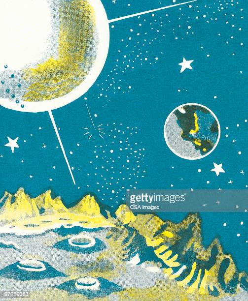 space explorer - meteor crater stock illustrations