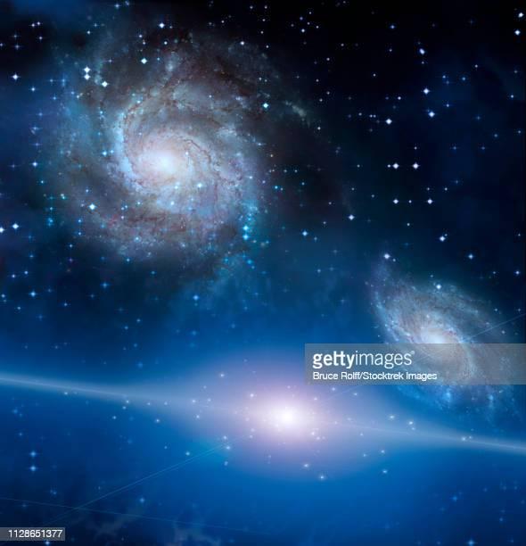 ilustraciones, imágenes clip art, dibujos animados e iconos de stock de space - galaxiaespiral
