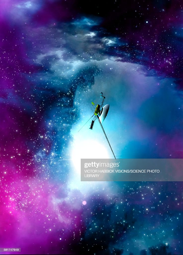 Space probe in outer space, illustration : Stock Illustration