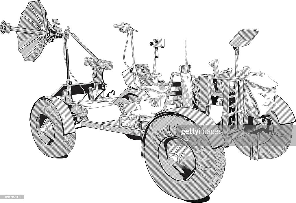 Space rover buggy illustration