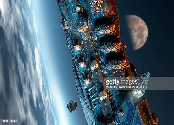 Space station, artwork