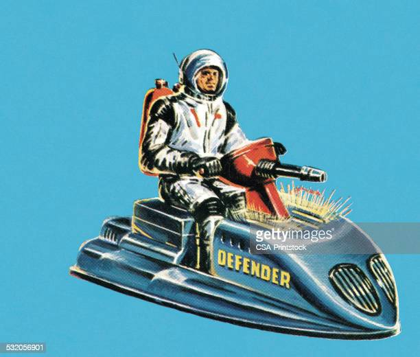 space vehicle - astronaut stock illustrations, clip art, cartoons, & icons