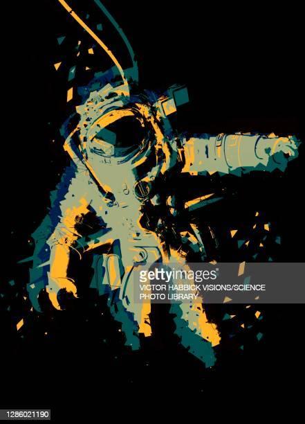 space walk, illustration - helmet stock illustrations